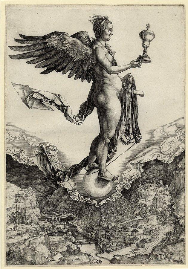 Nemesis (The Great Fortune) Albrecht Dürer (German, Nuremberg 1471–1528 Nuremberg)