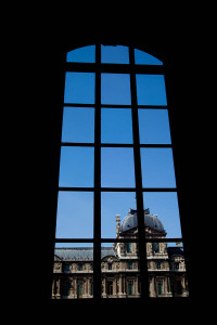The Louvre - View from inside.