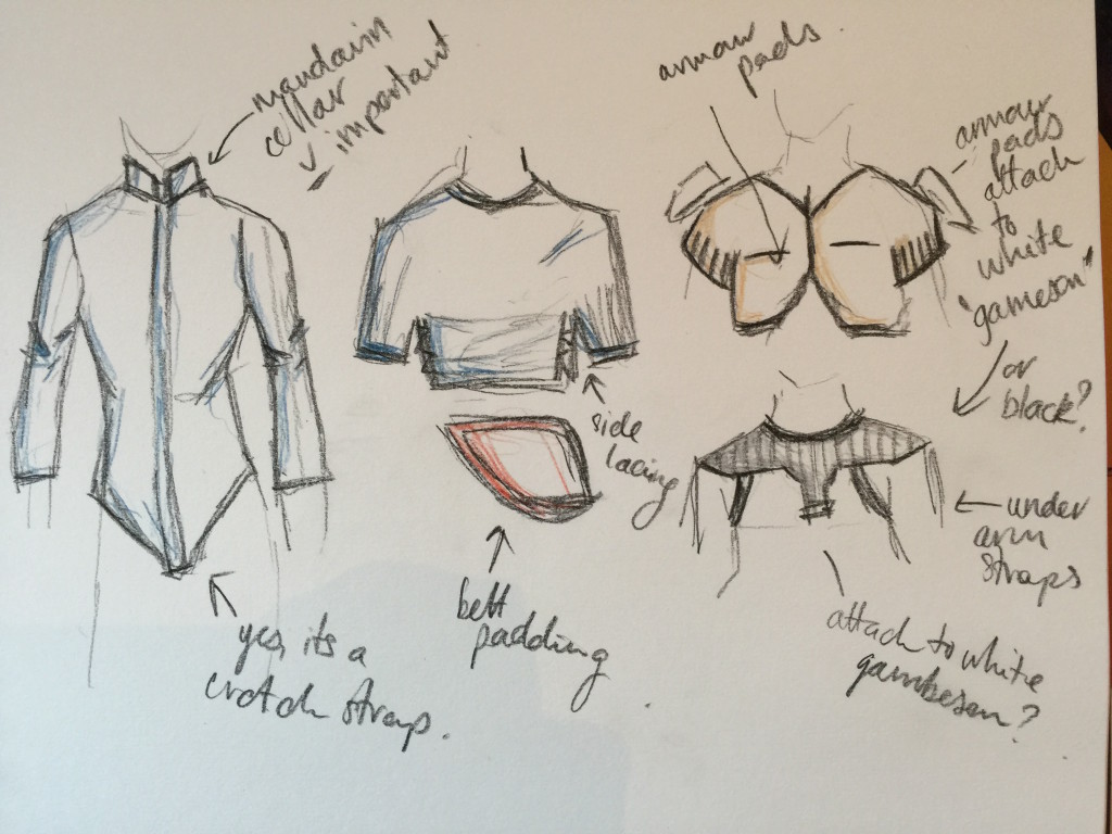 Mandalorian Costume Layers - Drawing