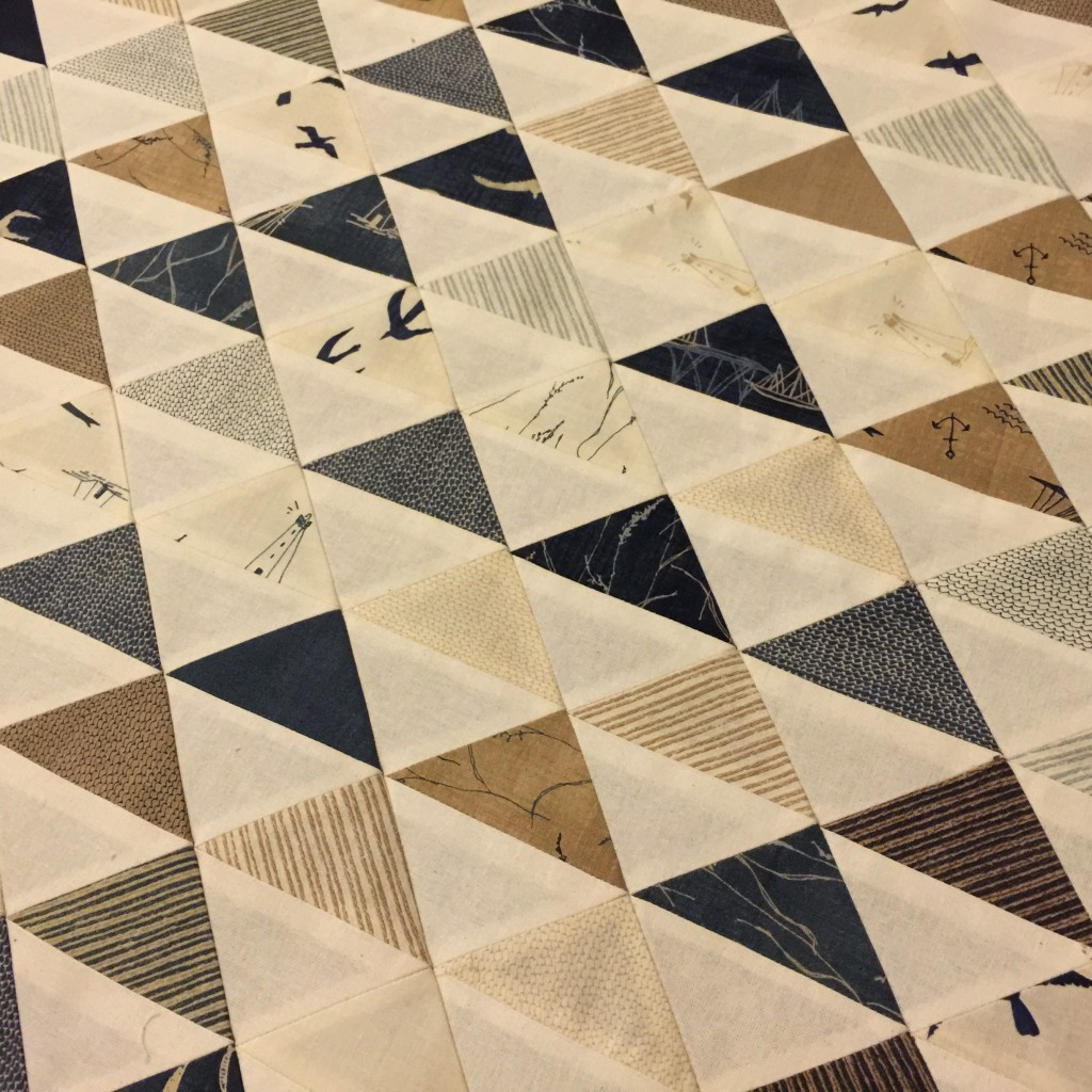'Thames Barge' Quilt Top, made from HST's (Half Square Triangles)