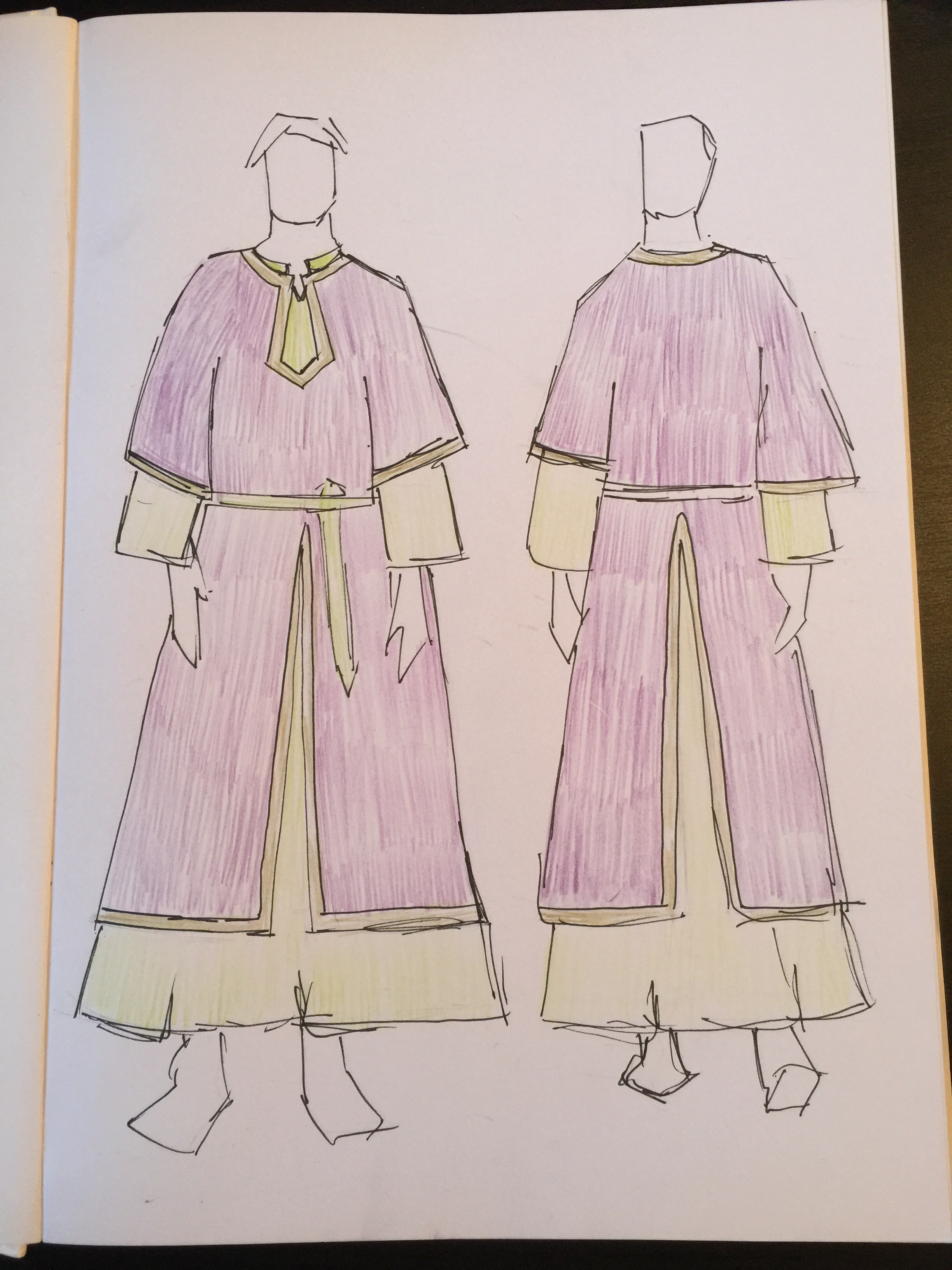 Medieval Costume Design for Heretic LRP / LARP