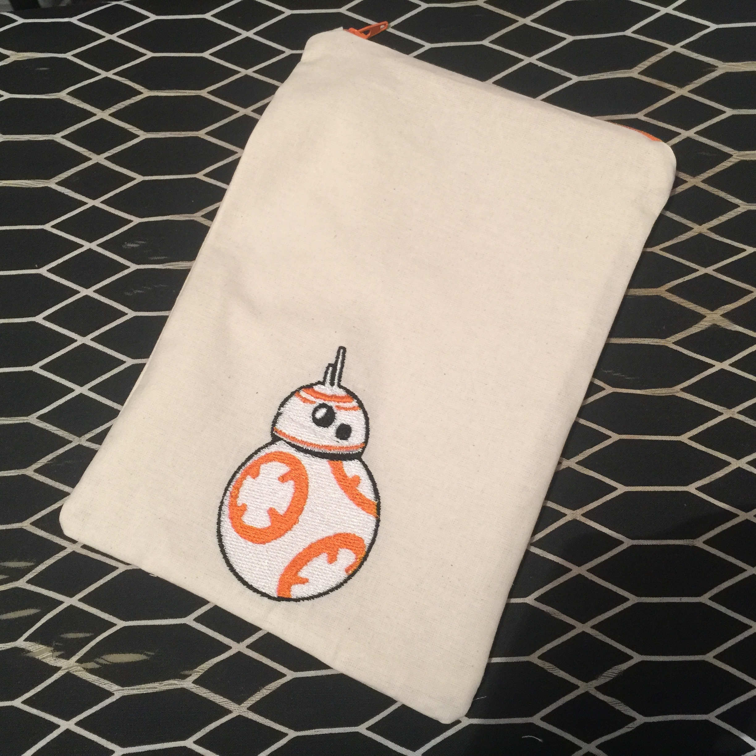 #4: BB8 Machine Embroidered Cable Bag