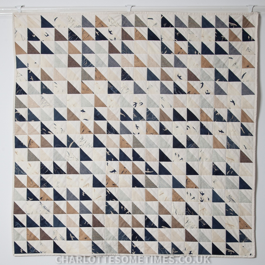Thames Barge Quilt | Modern HST (Half Square Triangles) | Moda Fabric - More Hearty Good Wishes